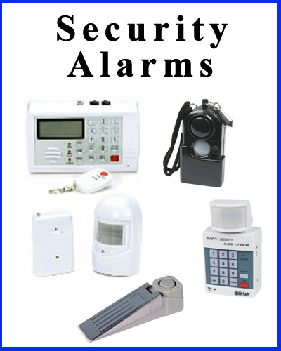 Security alarms and alerts for home, business, and personal use.
