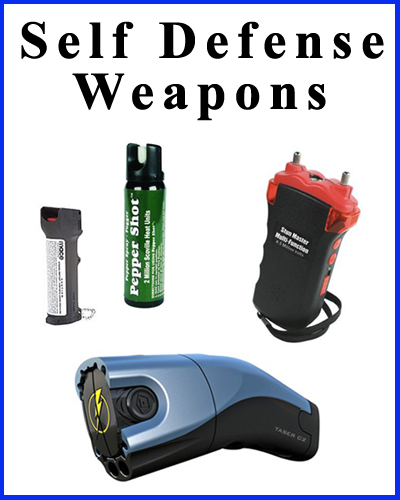 Self defense weapons for personal protection and safety.