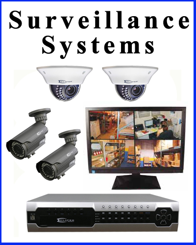 Professional CCTV surveillance systems and security cameras.